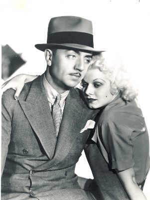 William Powell, Jean Harlow in Reckless 1935